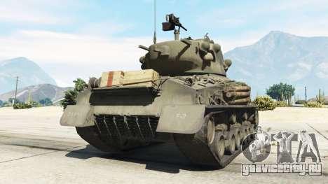 M4A3E8 Sherman Fury для GTA 5 вид сзади слева