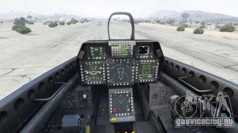 Lockheed Martin F-22 Raptor для GTA 5 пятый скриншот