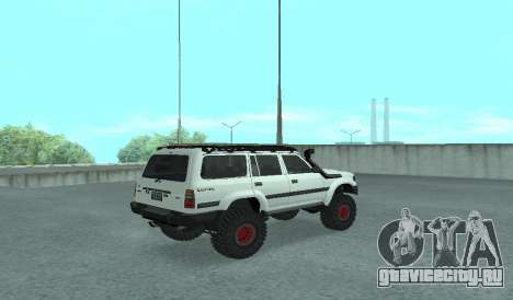 Toyota Autana 4500 off-road LED для GTA San Andreas вид сзади слева