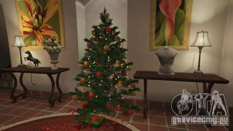 Новогодние украшения для дома Майкла для GTA 5 шестой скриншот