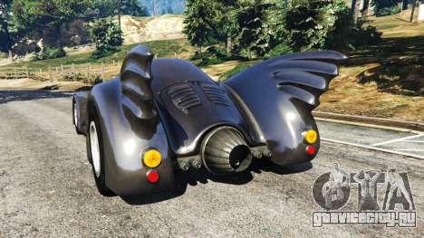Batmobile 1989 [Beta] для GTA 5 вид сзади слева