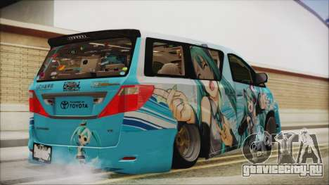 Toyota Alphard Hatsune Miku для GTA San Andreas вид слева