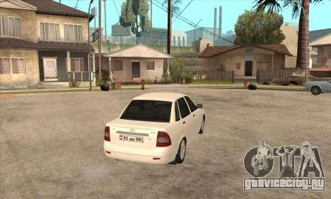 Lada Priora Armenian для GTA San Andreas вид справа