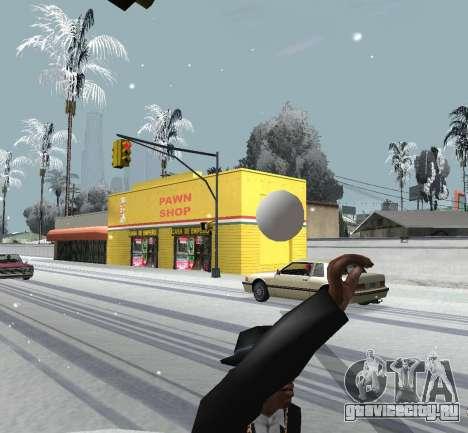 Метание снежка для GTA San Andreas третий скриншот