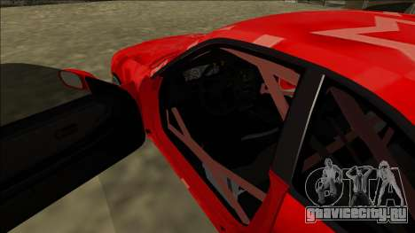 Nissan Skyline R33 Drift Red Star для GTA San Andreas салон