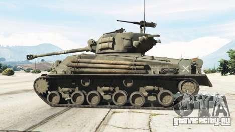 M4A3E8 Sherman Fury для GTA 5 вид слева