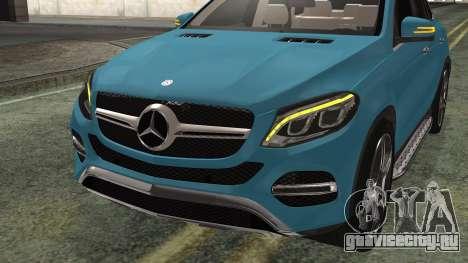 Mercedes-Benz GLE 450 AMG 2015 для GTA San Andreas вид сзади