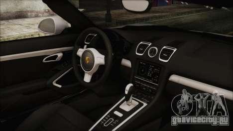 Porsche Boxster GTS 2016 для GTA San Andreas вид справа