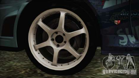 Nissan Skyline R34 Itasha для GTA San Andreas вид сзади слева