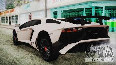 Lamborghini Aventador SV 2015 для GTA San Andreas вид слева