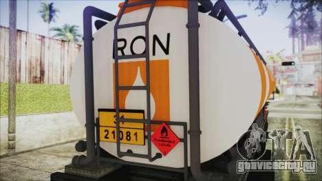 GTA 5 RON Tanker Trailer для GTA San Andreas вид справа