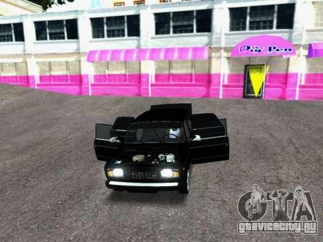 ВАЗ 2107-107 для GTA San Andreas вид сзади