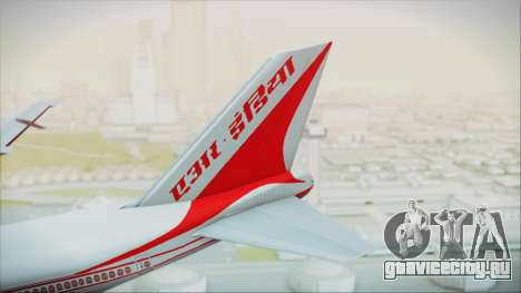 Boeing 747-237Bs Air India Krishna Deva Raya для GTA San Andreas вид сзади слева