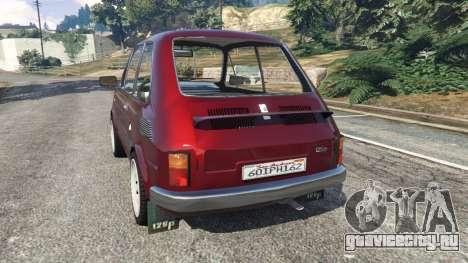 Fiat 126p v1.2 для GTA 5 вид сзади слева