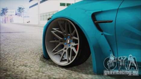 BMW M4 2014 Liberty Walk для GTA San Andreas вид сзади слева