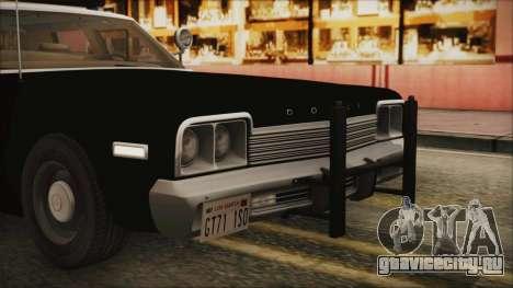 Dodge Monaco 1974 LSPD IVF для GTA San Andreas вид сверху