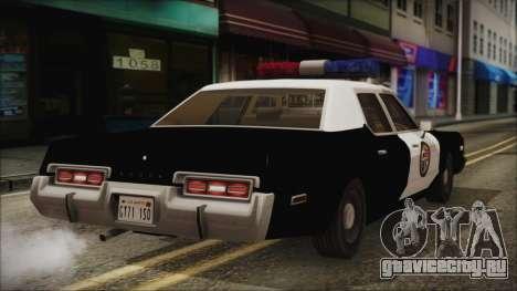Dodge Monaco 1974 LSPD IVF для GTA San Andreas вид слева