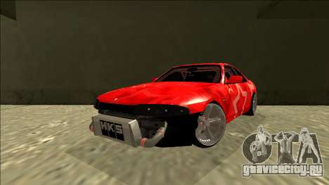 Nissan Skyline R33 Drift Red Star для GTA San Andreas вид сзади слева