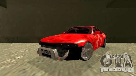 Nissan Skyline R33 Drift Red Star для GTA San Andreas вид сзади слева