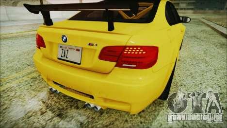 BMW M3 GTS 2011 IVF для GTA San Andreas вид сбоку