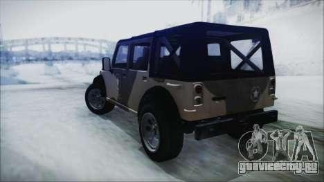 GTA 5 Canis Crusader IVF для GTA San Andreas вид слева