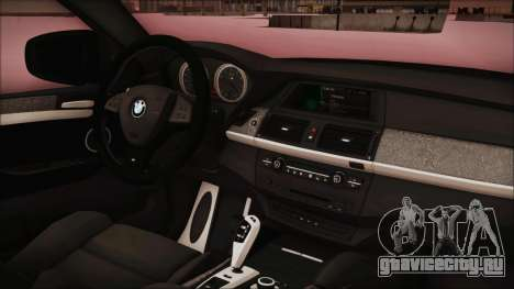 BMW X6 Georgia Police для GTA San Andreas вид справа