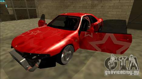 Nissan Skyline R33 Drift Red Star для GTA San Andreas двигатель