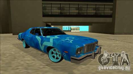 Ford Gran Torino Drift Blue Star для GTA San Andreas вид справа