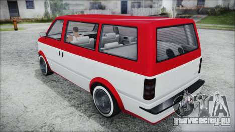 GTA 5 Declasse Moonbeam Bobble Version IVF для GTA San Andreas вид слева