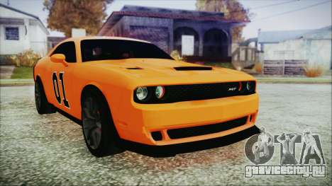 Dodge Challenger SRT 2015 Hellcat General Lee для GTA San Andreas