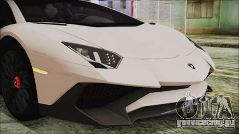 Lamborghini Aventador SV 2015 для GTA San Andreas вид изнутри