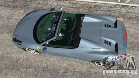 Ferrari 458 Spider 2012 для GTA 5 вид сзади