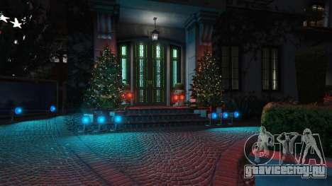 Новогодние украшения для дома Майкла для GTA 5 второй скриншот