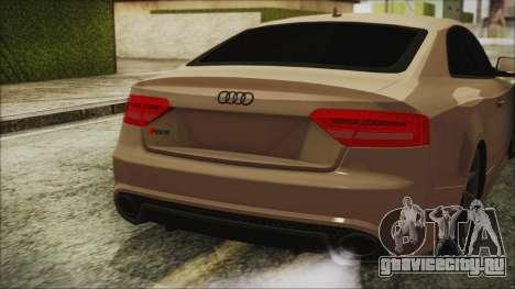 Audi RS5 для GTA San Andreas вид сзади