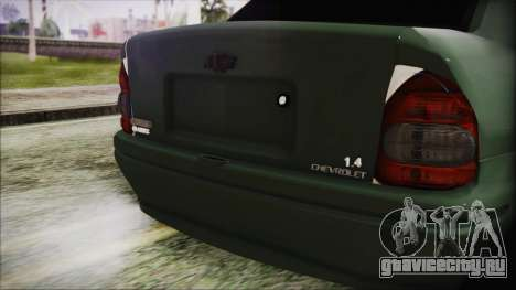 Chevrolet Corsa для GTA San Andreas вид сзади