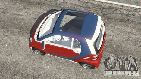 Smart ForTwo 2012 v0.1 для GTA 5 вид сзади