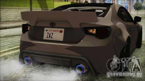 Toyota GT86 Rocket Bunny Tunable IVF для GTA San Andreas вид сверху