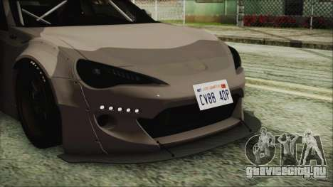 Toyota GT86 Rocket Bunny Tunable IVF для GTA San Andreas вид сзади