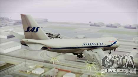 Boeing 747-283BM Scandinavian Airlines для GTA San Andreas вид слева