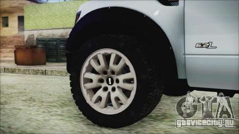 Ford F-150 SVT Raptor 2012 Stock Version для GTA San Andreas вид сзади слева