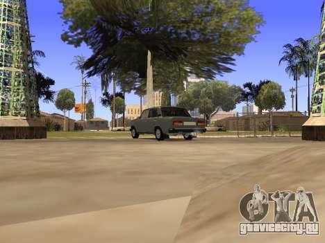 ВАЗ 2107 by Liksan v0.3 для GTA San Andreas вид сзади слева