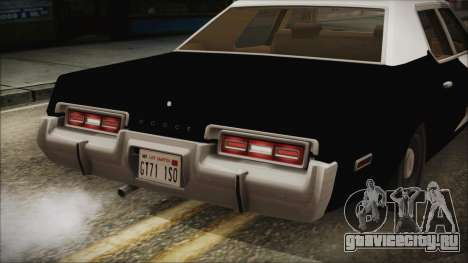 Dodge Monaco 1974 LSPD IVF для GTA San Andreas вид изнутри