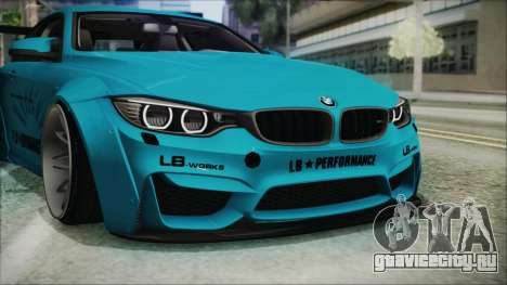 BMW M4 2014 Liberty Walk для GTA San Andreas вид сверху