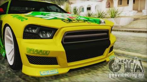 GTA 5 Bravado Buffalo Sprunk для GTA San Andreas вид сзади