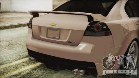 Chevrolet Lumina 2009 для GTA San Andreas вид сзади