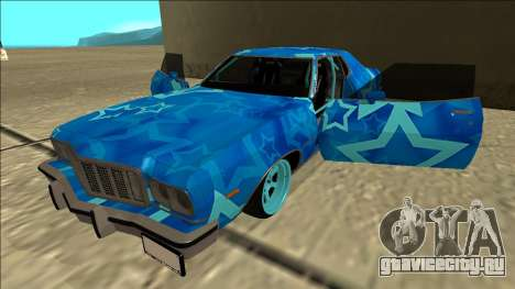 Ford Gran Torino Drift Blue Star для GTA San Andreas вид сбоку