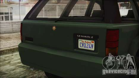 GTA 5 Canis Seminole для GTA San Andreas вид справа