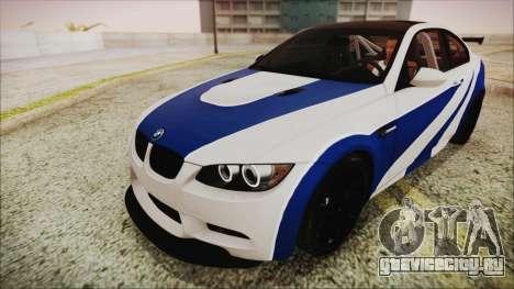 BMW M3 GTS 2011 IVF для GTA San Andreas вид снизу