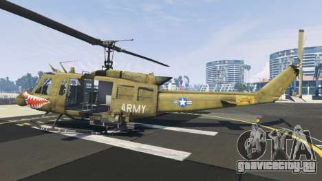 Bell UH-1D Iroquois Huey Gunship для GTA 5 второй скриншот