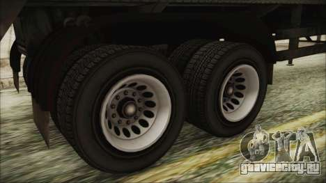 GTA 5 RON Tanker Trailer для GTA San Andreas вид сзади слева